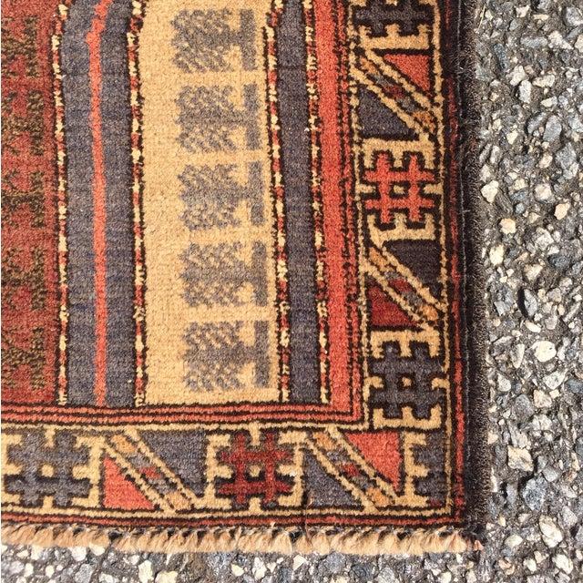 "Vintage Baluchi Persian Rug - 2'11"" x 3'10"" - Image 9 of 10"