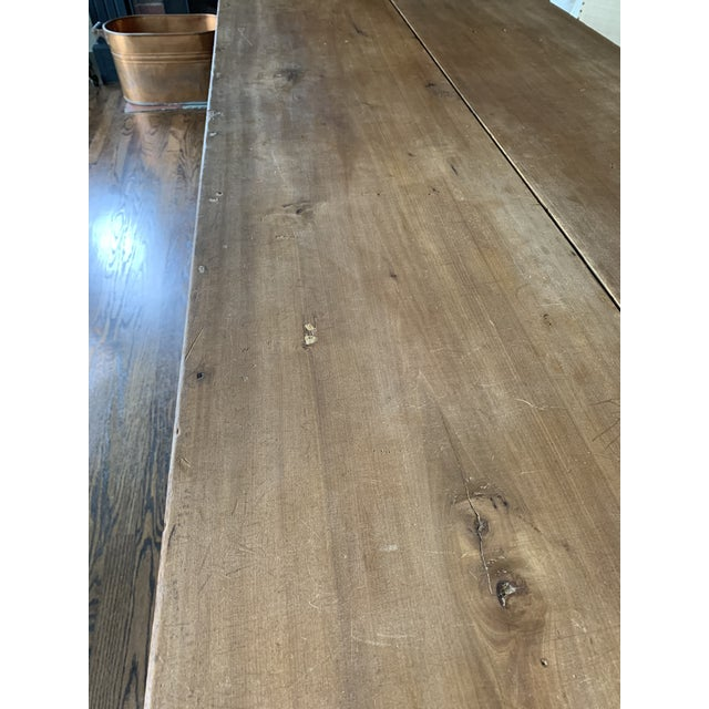 20th Century Farmhouse Dining Table For Sale In Detroit - Image 6 of 11