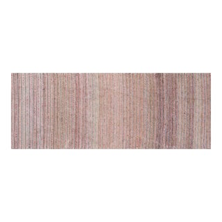 """Handwoven Reversible Vintage Swedish Rug by Scandinavian Made 105"""" x 23"""" For Sale"""