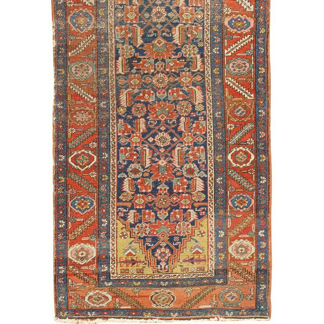 "Antique Heriz Hand Woven Runner, 3'1"" X 13'3"" For Sale - Image 4 of 6"