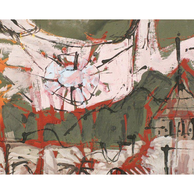 Mid-Century Modern Semi-Abstract Mid-Century Modern Painting by Ray Trail For Sale - Image 3 of 5