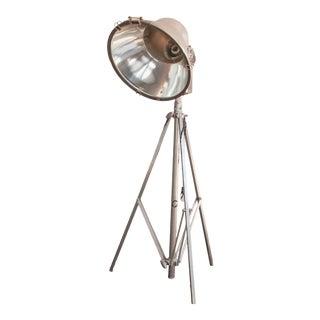 Vintage Industrial Tripod Floor Lamp For Sale