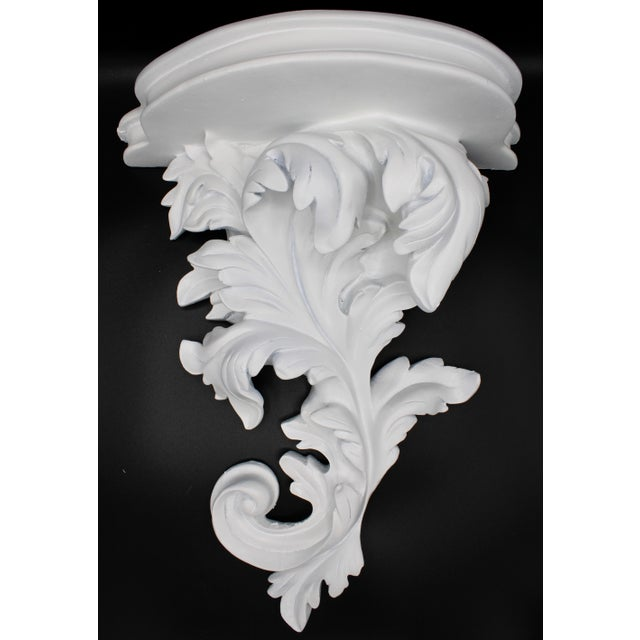 Large White Acanthus Leaf Wall Shelf For Sale - Image 11 of 12