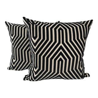 Schumacher Vanderbilt Velvet Pillows - A Pair