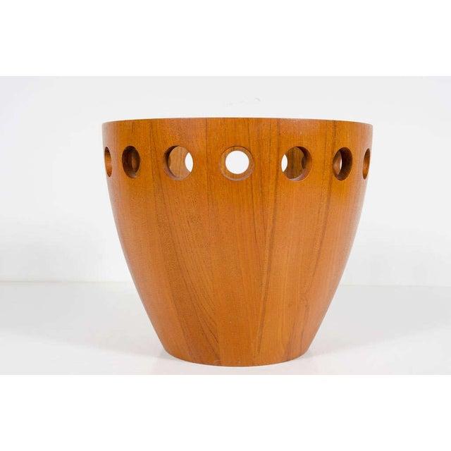 Danish Modern Jens Quistgaard Danish Modern Staved Teak Fruit Bowl For Sale - Image 3 of 8