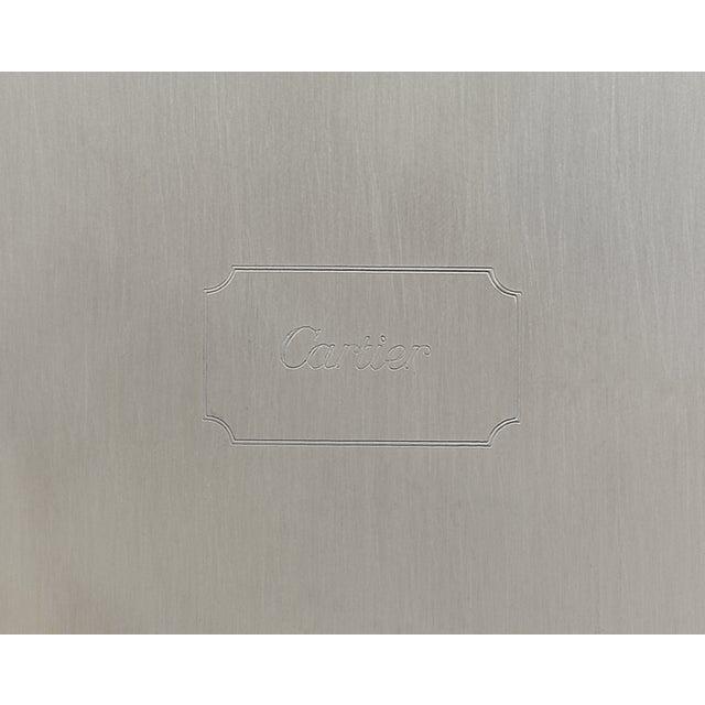 Contemporary Joe DiMaggio Silver Presentation Tray By Cartier For Sale - Image 3 of 4