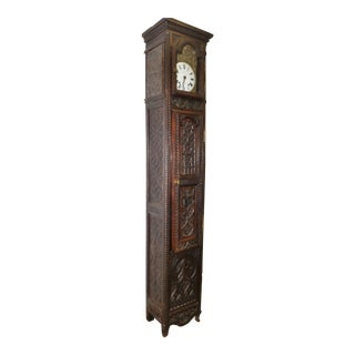 18th Century Antique French Gothic Working Grandfather Clock