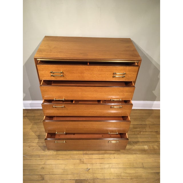 Red Lion Furniture Vintage Mid-Century Tall Dresser For Sale - Image 4 of 12