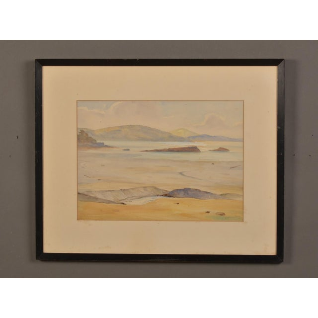 A beautiful watercolor of the south coast signed in the lower right from England c.1900. The soft and mellow colors of...