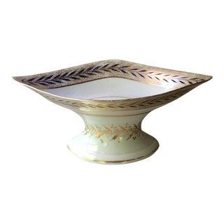 Antique English Porcelain Fruit Bowl For Sale