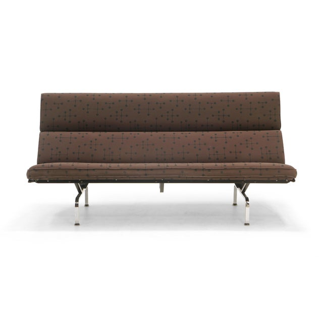 Charles and Ray Eames Sofa Compact for Herman Miller in Eames Dot Pattern Fabric For Sale - Image 10 of 10