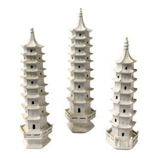 Set of 3 Pagoda Figurines