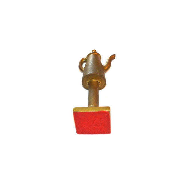 1940s Boho Chic Bronze Coffee Pot Paperweight For Sale - Image 6 of 7