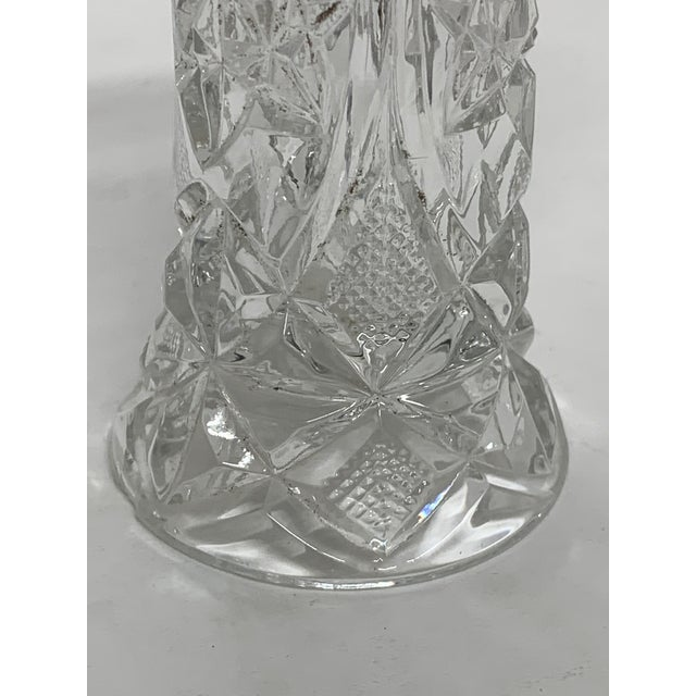 Mid 20th Century Vintage Hand Cut Crystal Petite Vase For Sale - Image 5 of 7