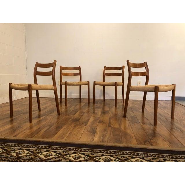Niels Otto Møller for j.l. Møller Teak Dining Chairs, Model 84 - Set of 4 For Sale - Image 13 of 13