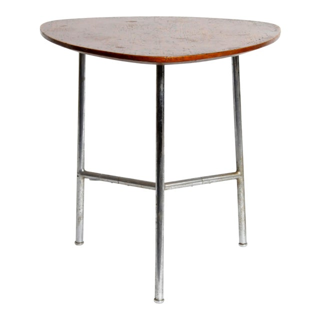 Hungarian Table with Metal Legs For Sale