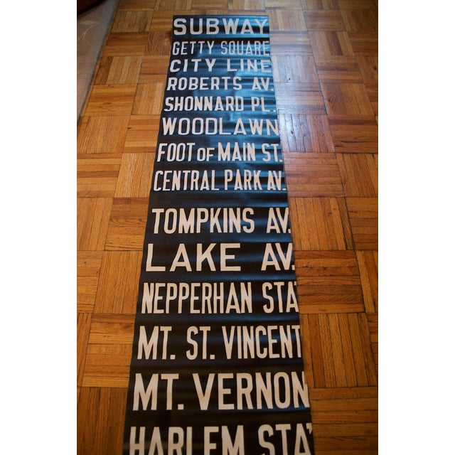 Pre-War New York Trolley Scroll For Sale - Image 4 of 7