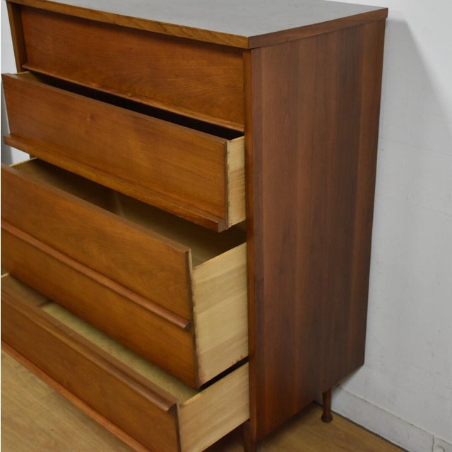 Walnut & Formica Tall Dresser - Image 7 of 9
