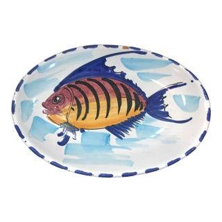 Vintage Italian Terra Cotta Fish Plate For Sale