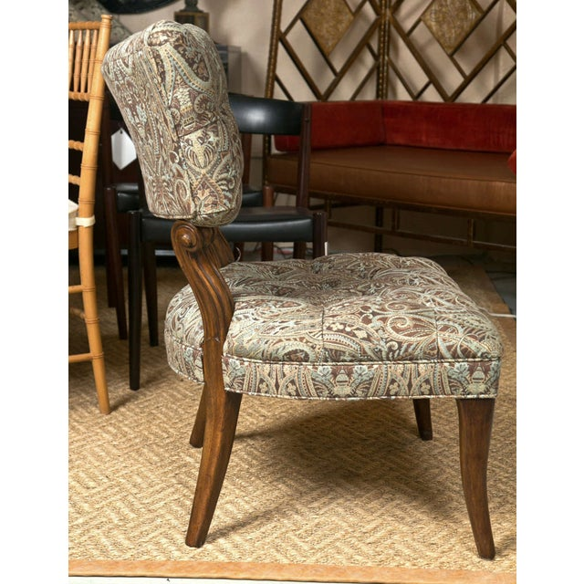 Kravet James Mont Style Lounge Chairs - Pair - Image 4 of 5