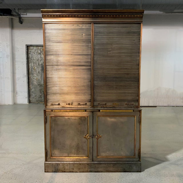 Antique, valuables safe display cabinet is a piece of New York history as it is reputedly from R.H. Macy & Co., Herald...