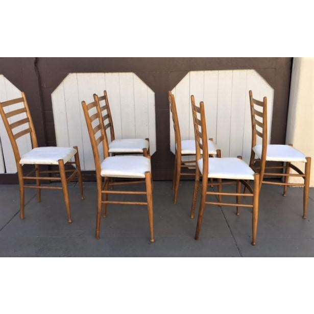 Italian Dining Chairs - Set of 6 - Image 3 of 6