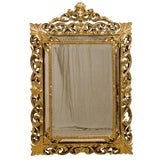 Image of Italian 19th Century Gilt Wood Mirror For Sale