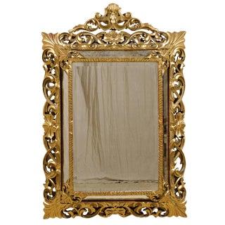 Italian 19th Century Gilt Wood Mirror For Sale