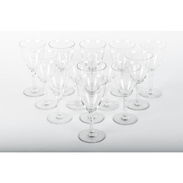 Mid 20th Century Vintage Baccarat Crystal Glasses - Set 12 For Sale - Image 5 of 5