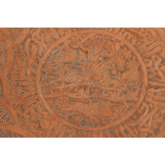 Copper Large Persian Qajar Copper Tray For Sale - Image 7 of 8