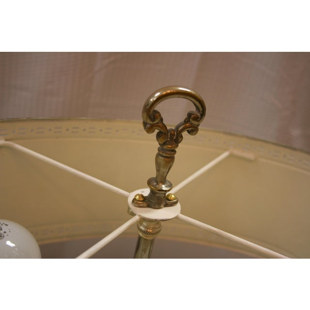 1930s English Style Silver Bouillotte Lamp For Sale - Image 5 of 6