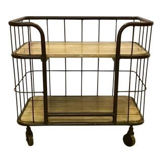 Industrial Modern Interlude Home Palermo Side Table/ Bar Cart For Sale