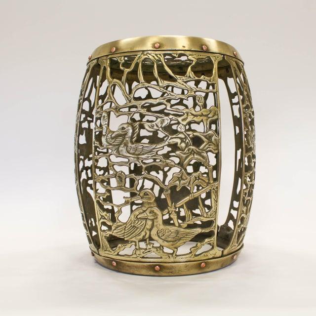 Asian Brass Chinosiere Garden Stool - Image 2 of 9