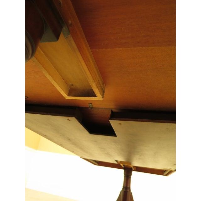Kindel Furniture Kindel Banded Border Duncan Phyfe Mahogany Dining Table For Sale - Image 4 of 13