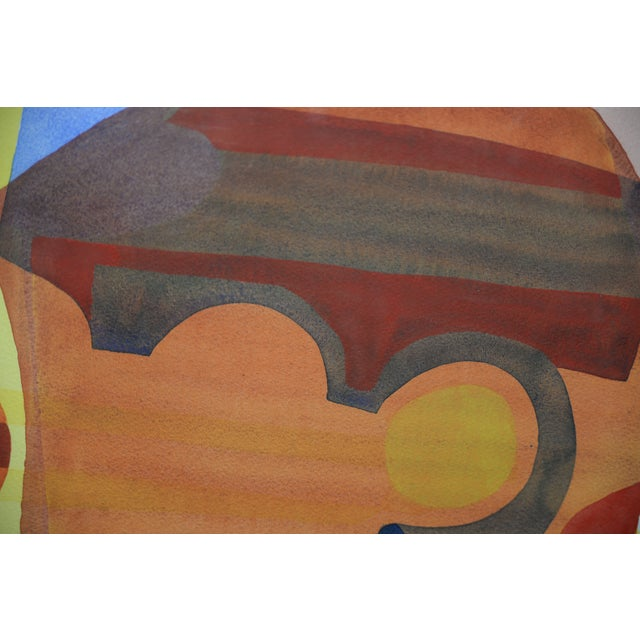 """Katherine Barieau (1917-2010) """"Child's Room"""" Abstract Watercolor C.1967 For Sale - Image 9 of 10"""
