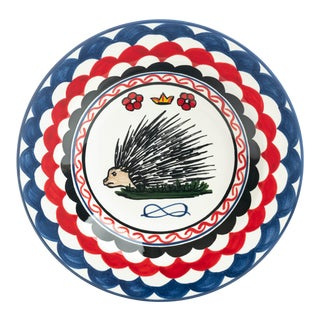 """Porcupine Pasta/Soup Bowl 10"""", Contrade Dinnerware From Siena For Sale"""