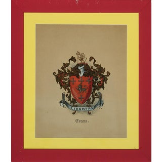 """""""Evans 'Libertas' Coat-of-Arms"""" For Sale"""