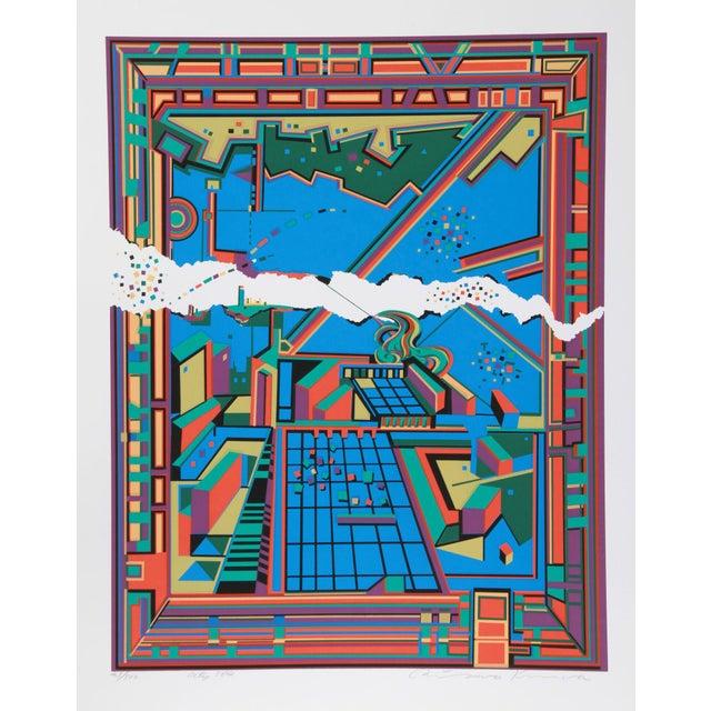 Artist: Risaburo Kimura, Japanese (1924 - ) Title: City 364 Year: circa 1971 Medium: Serigraph, signed and numbered in...