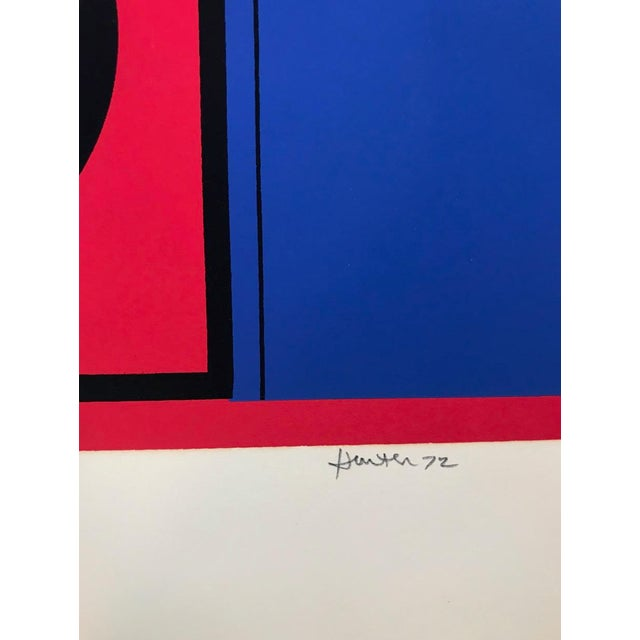 Mid-Century Modern Mid-Century Modern Robert Hunter Serigraph 1972 For Sale - Image 3 of 6