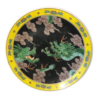 1900s Chinese Hand Painted Plate For Sale