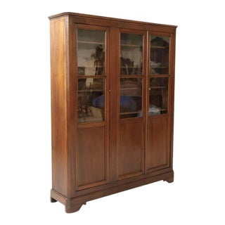 19th Century French Louis Philippe Style Walnut Bibliotheque or Bookcase For Sale