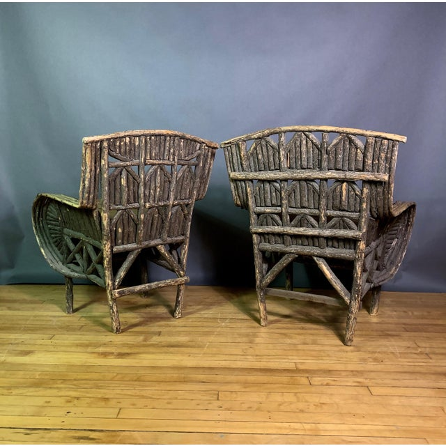 Pair of 1930s New Hampshire Adirondack Chairs For Sale - Image 4 of 12