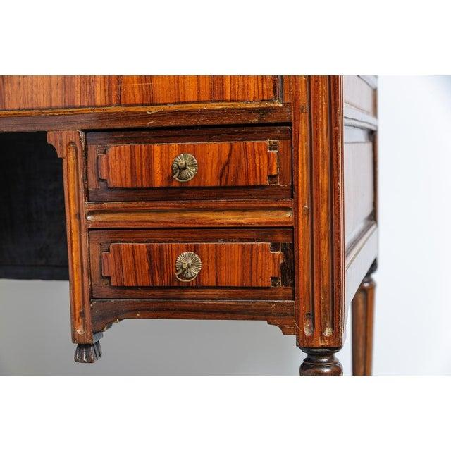 Louis XVI Walnut Valuables Cabinet Desk For Sale - Image 9 of 11