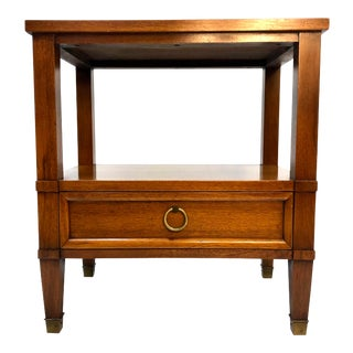 Side Table Nightstand in Mahogany by Sligh Furniture For Sale