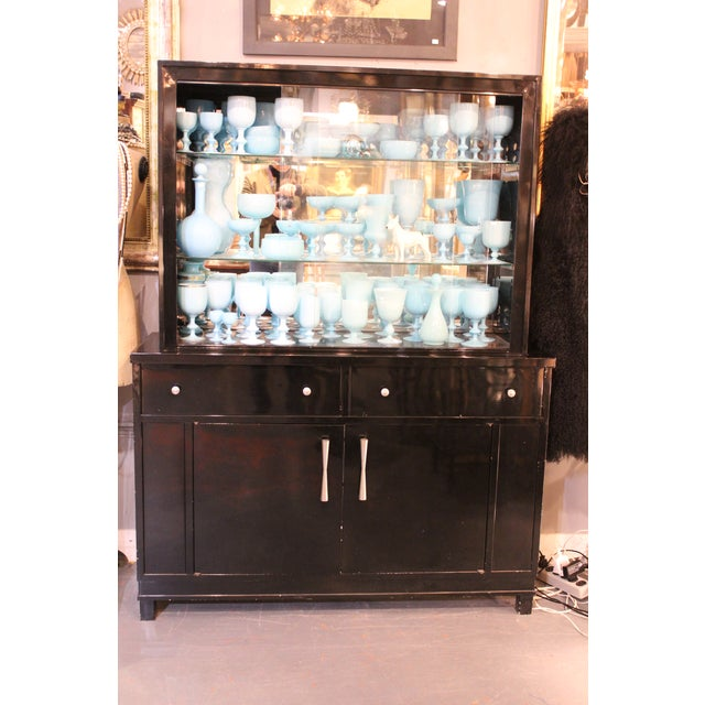 Asian Okamura Mid-century Japanese Metal Cabinet For Sale - Image 3 of 4