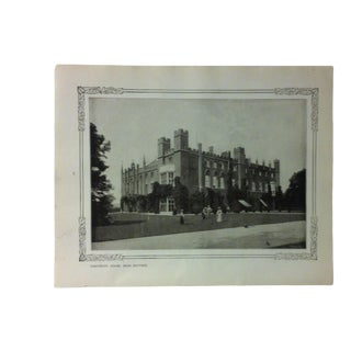 """1906 """"Cassiobury House - Near Watford"""" Famous View of London Print For Sale"""