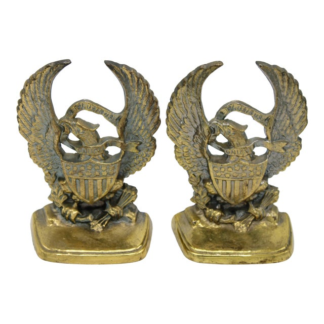 Vintage Federal Eagle Bookends - a Pair For Sale