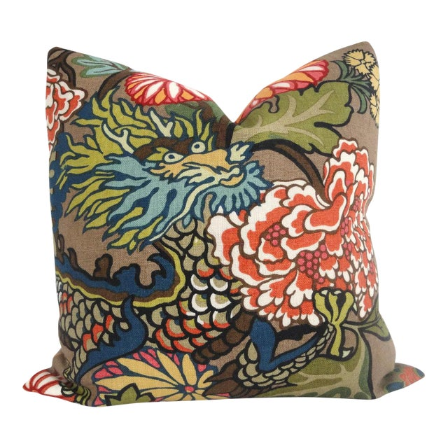 Schumacher Chiang Mai Dragon Pillow Cover For Sale In Boston - Image 6 of 6