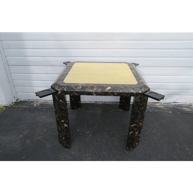 This stunning Card Game Table is in very good condition. The table design by Enrique Garcel and it is labeled, see...