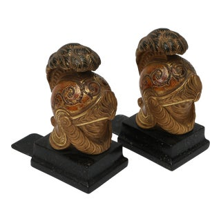 Italian Borchese Bookends - A Pair